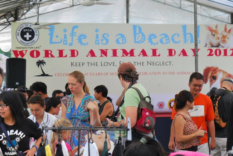 Anniversario di Singapore SPCA sessantacinquesimo immagini stock