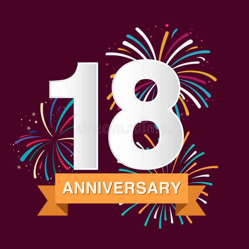 Anniversary background stock illustration