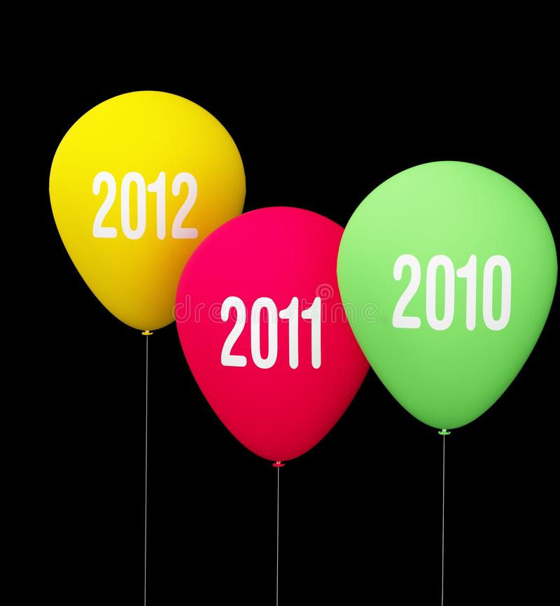Download Anniversary baloon of year stock illustration. Image of colorful - 16613440