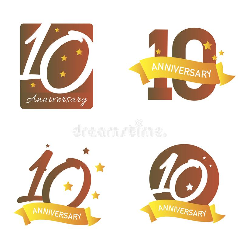 Anniversary banners royalty free illustration