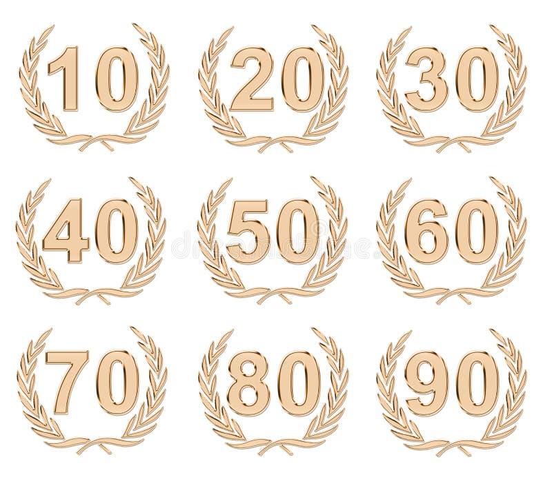 Download Anniversary Bronze stock illustration. Image of metal - 15003714