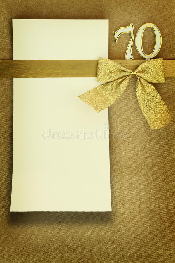Download Anniversary card stock photo. Image of 70th, invitation - 29457532