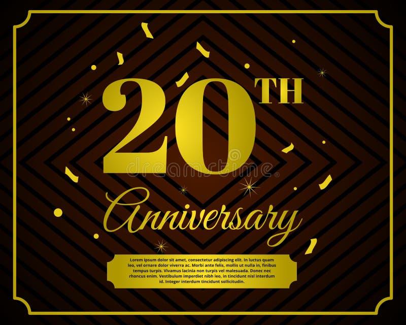 20 anniversary celebration card template vector illustration
