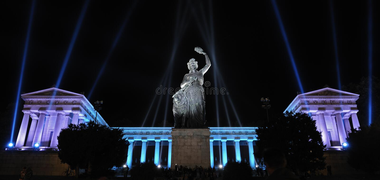 Download Anniversary Lightning At The Bavaria In Munich Stock Photo - Image: 16362846