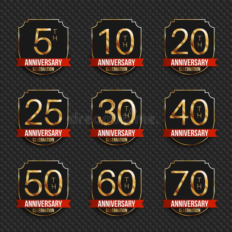 Anniversary Logos Collection 5th 10th 20th 25th 30th 40th