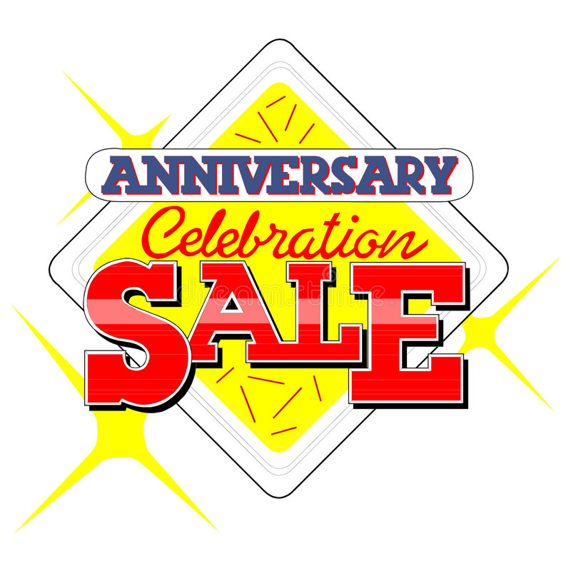 Free Anniversary Sale Heading Stock Photos - 1993433
