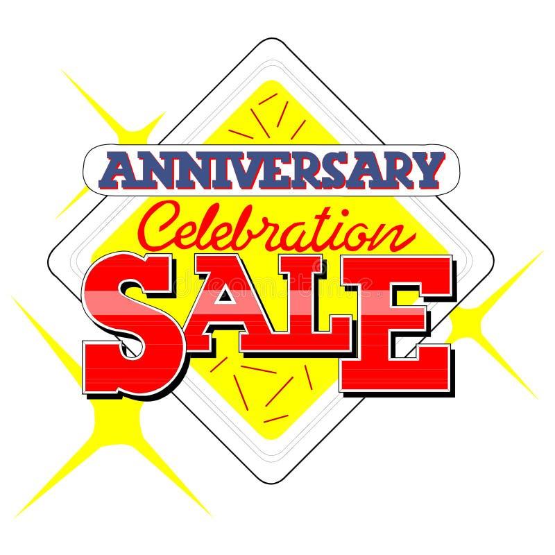 Anniversary Sale Heading vector illustration