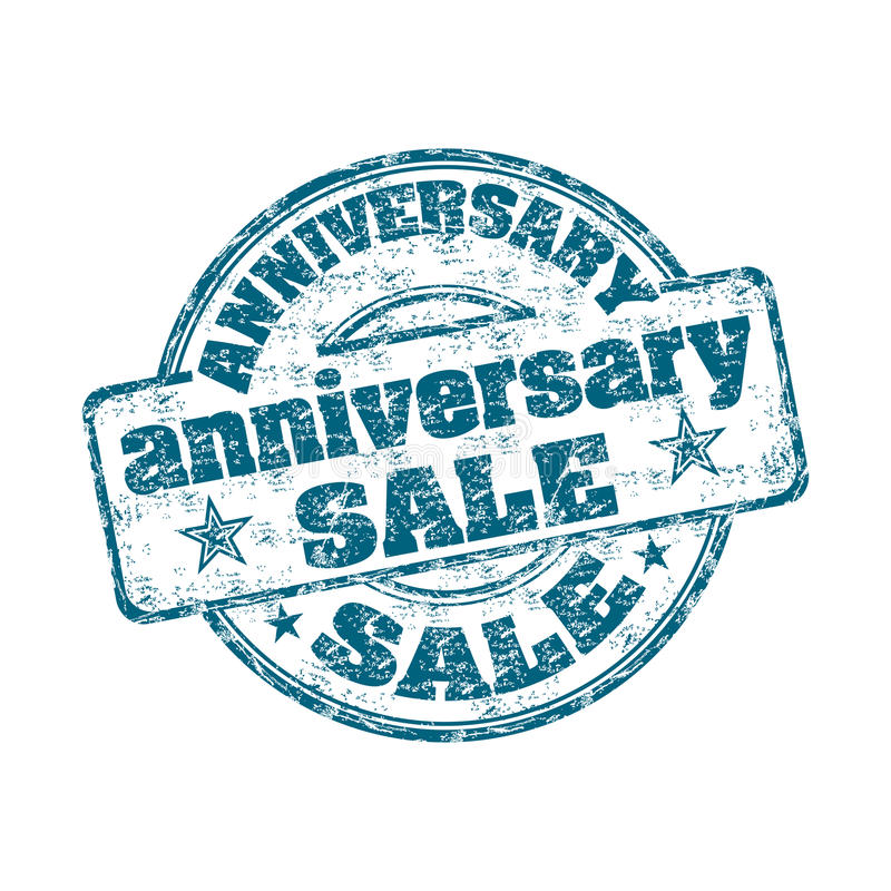 Free Anniversary Sale Rubber Stamp Stock Photography - 16972742