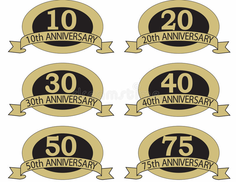 Download Anniversary seals with stock vector. Illustration of 50th - 19743361