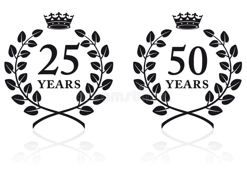 Download Anniversary Seals 2 stock vector. Image of illustration - 13246425