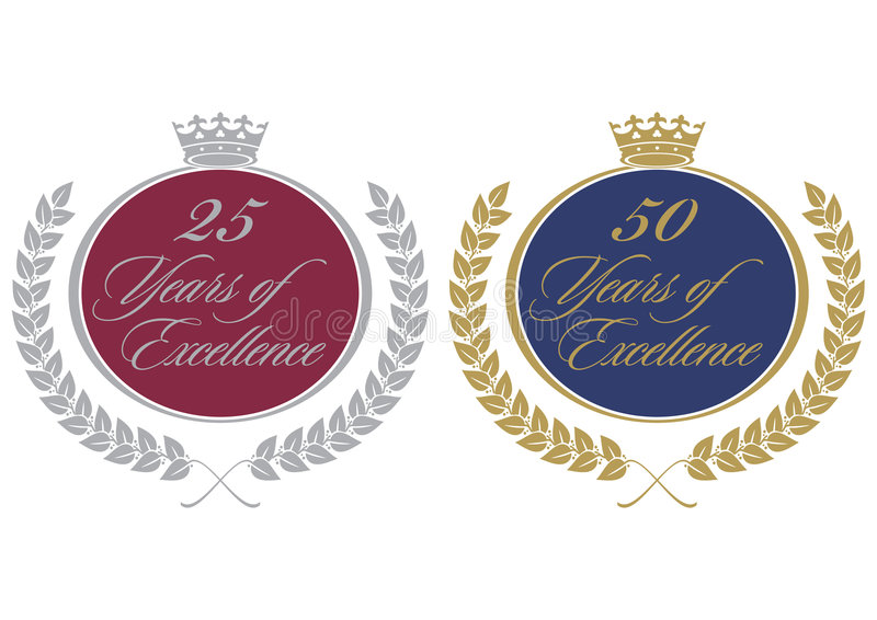Download Anniversary Seals Royalty Free Stock Photo - Image: 8595825