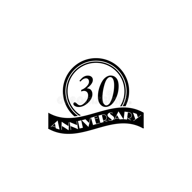 30 Year Anniversary Symbol: 30 Anniversary Stock Illustration. Illustration Of Laurel