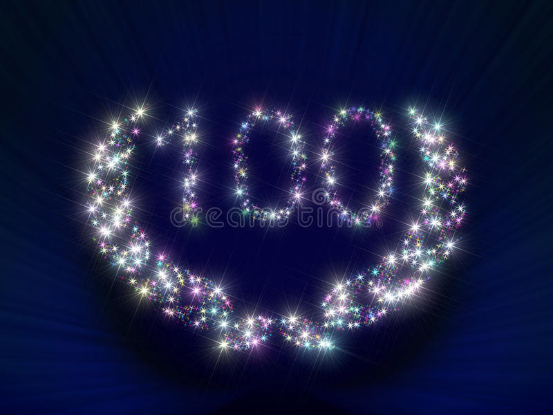 Anniversary Stars Number 100 years stock illustration