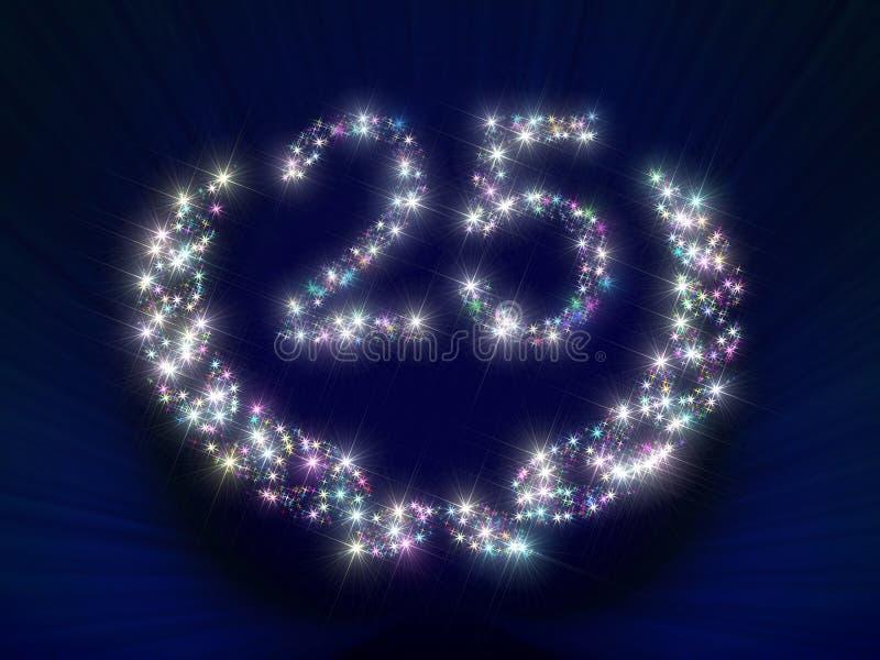 Anniversary Stars Number 25 years stock image