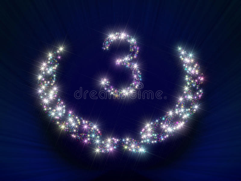 Download Anniversary Stars Number 3 Years Stock Images - Image: 23373574