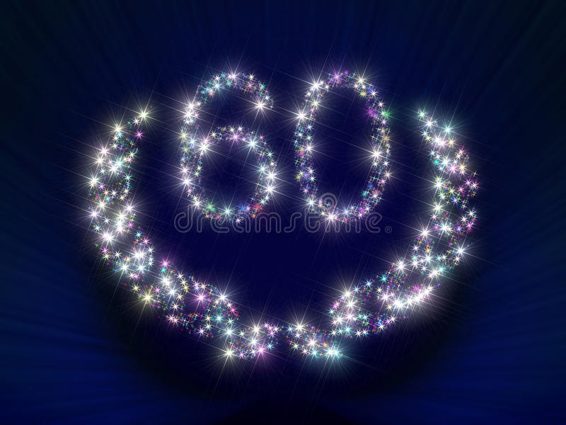 Anniversary Stars Number 60 years royalty free illustration