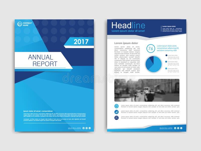 Annnual έκθεση σχεδίου κάλυψης, ιπτάμενο, παρουσίαση, φυλλάδιο διανυσματική απεικόνιση