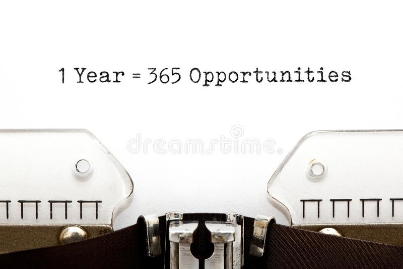 1 anno è uguale a 365 opportunità fotografia stock