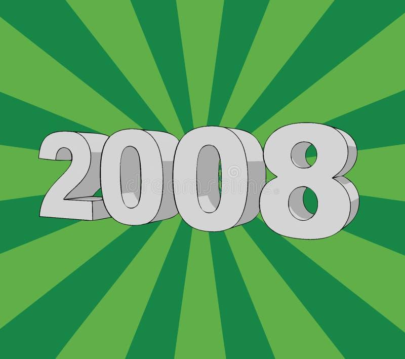 Anno 2008 royalty illustrazione gratis