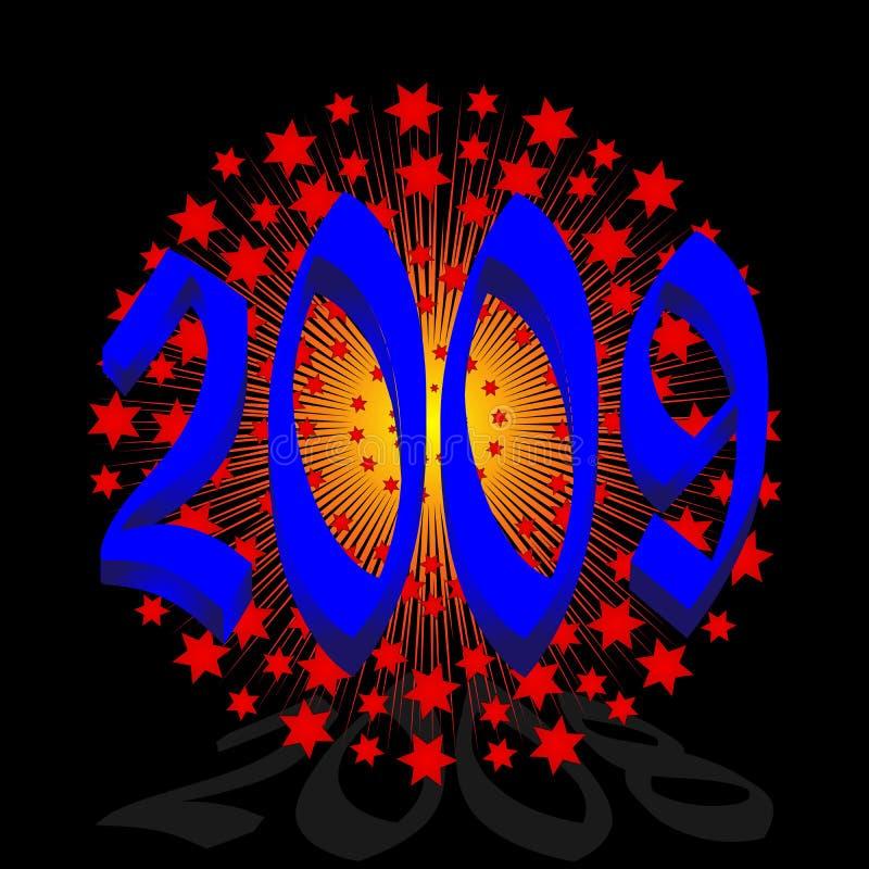 Download Anno 2009 illustrazione vettoriale. Illustrazione di celebrazione - 7316661