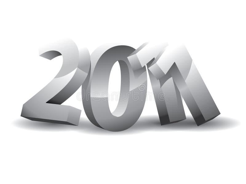 Anno 2011 illustrazione di stock