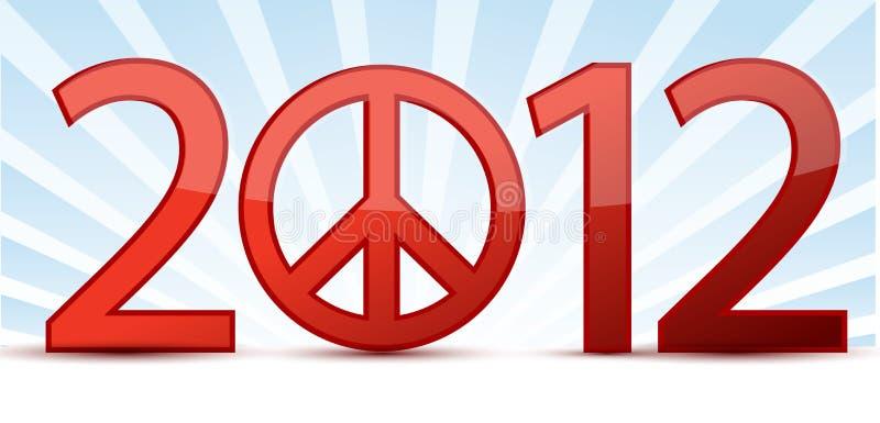 anno 2012 di pace illustrazione di stock