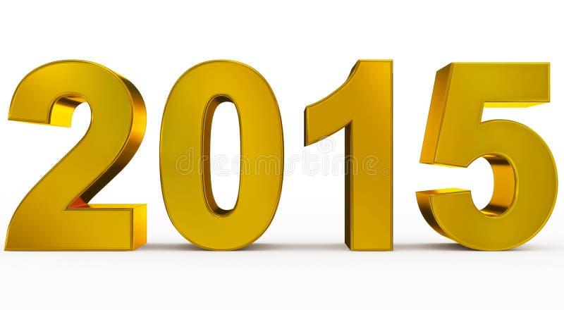 Anno 2015 illustrazione di stock