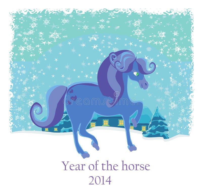 Anno del cavallo illustrazione vettoriale