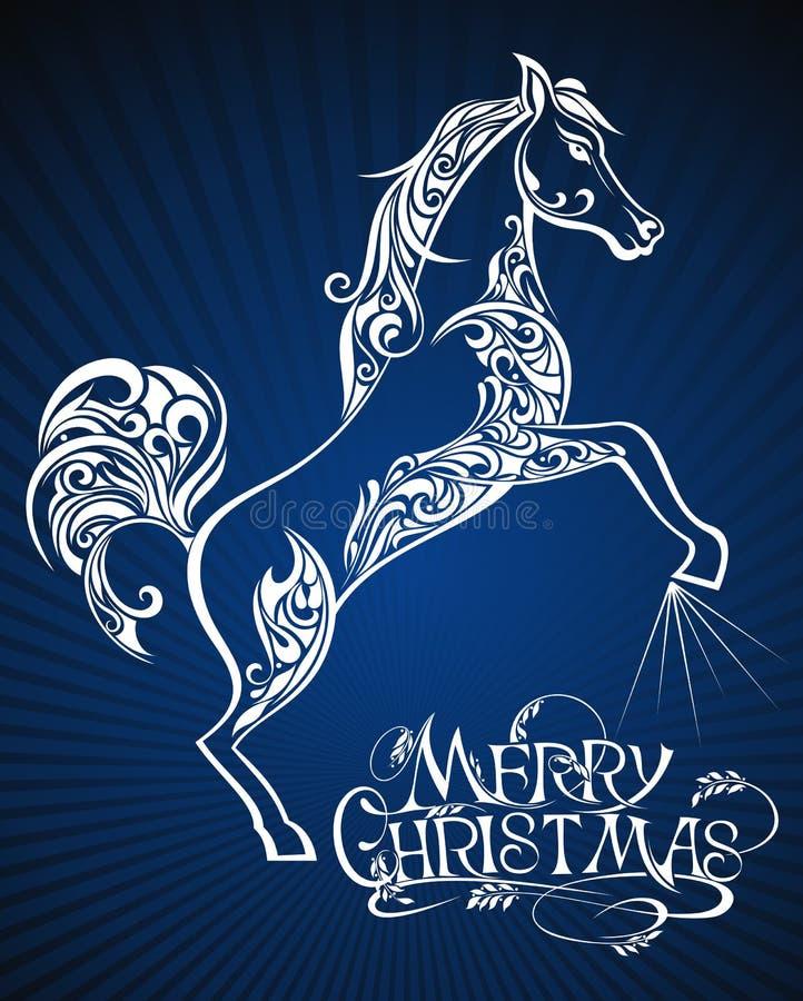 Anno del cavallo illustrazione di stock