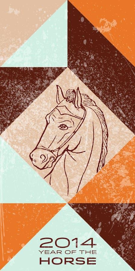 2014 - Anno del cavallo illustrazione vettoriale