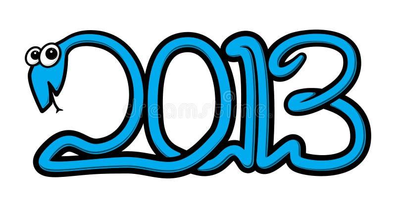 Anno del serpente di acqua 2013 royalty illustrazione gratis