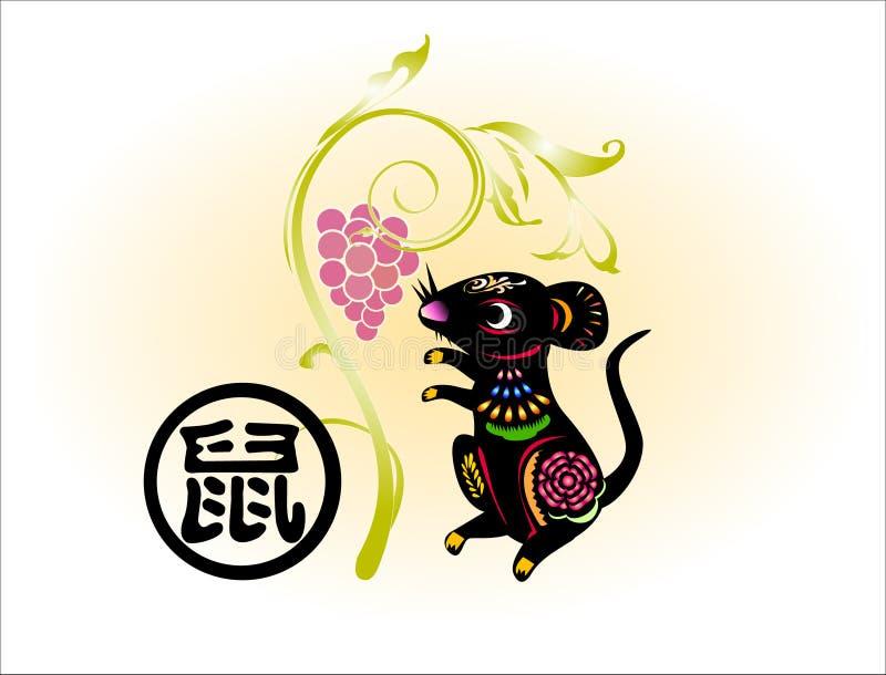 Anno di rat1 2008 royalty illustrazione gratis