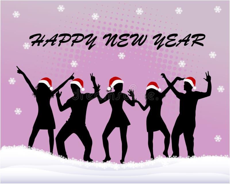 Anno felice della scheda di natale nuovo royalty illustrazione gratis