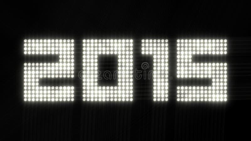 Anno 2015 - luci tremule illustrazione di stock