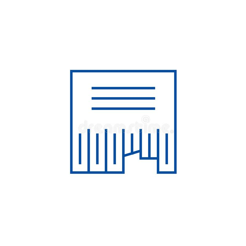 Annonçant la ligne concept de classifieds d'icône La publicité du symbole plat de vecteur de classifieds, signe, illustration d'e illustration stock