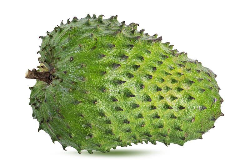 Annona Muricata o oursop frutifica Sugar Apple, maçã do ustard isolada imagem de stock