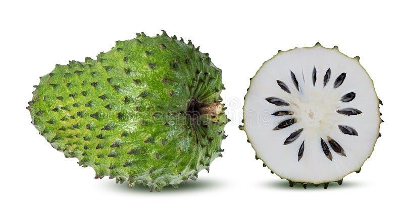 Annona Muricata o oursop frutifica Sugar Apple, maçã do ustard isolada imagem de stock royalty free