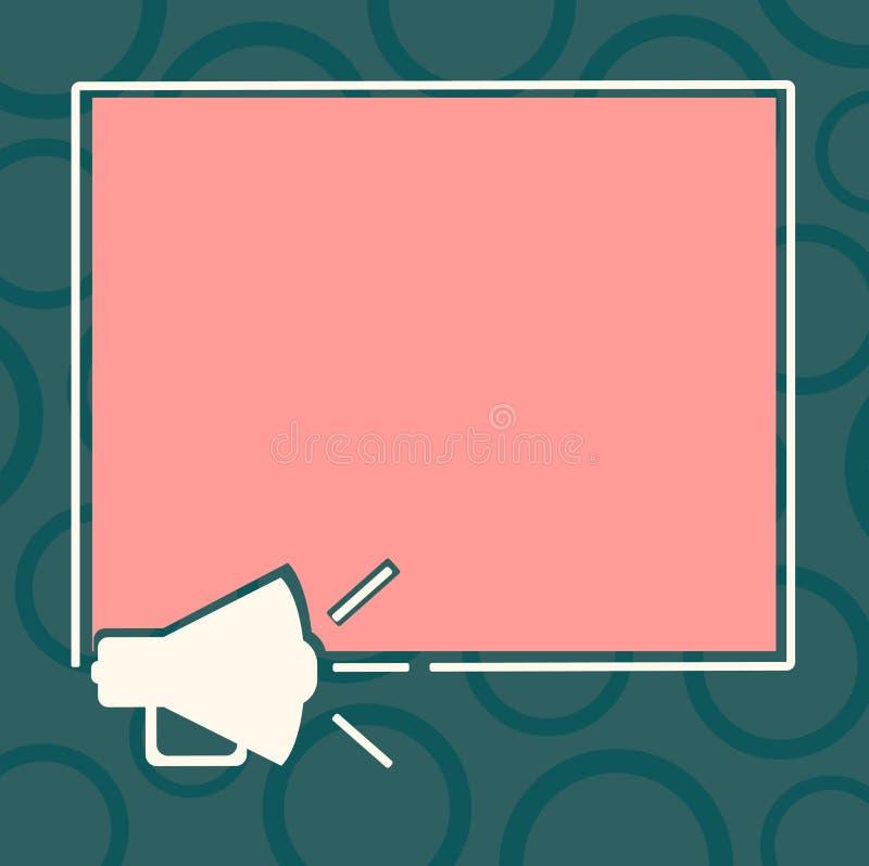 Annonce d'affaires de concept d'affaires de conception pour les contours sains d'icône de médias de bannières de promotion de sit illustration libre de droits