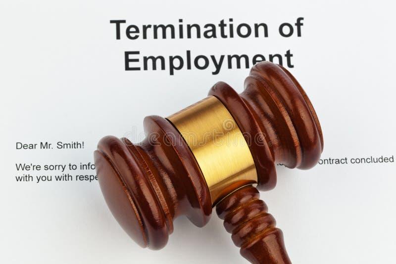Annonce d'artiste par des employeurs (anglais) image libre de droits