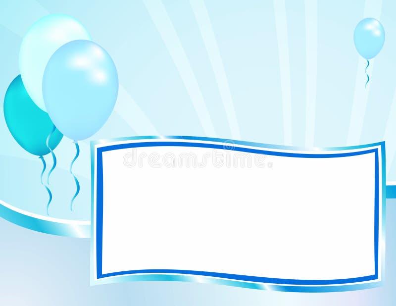 Annonce de bleu de chéri illustration stock