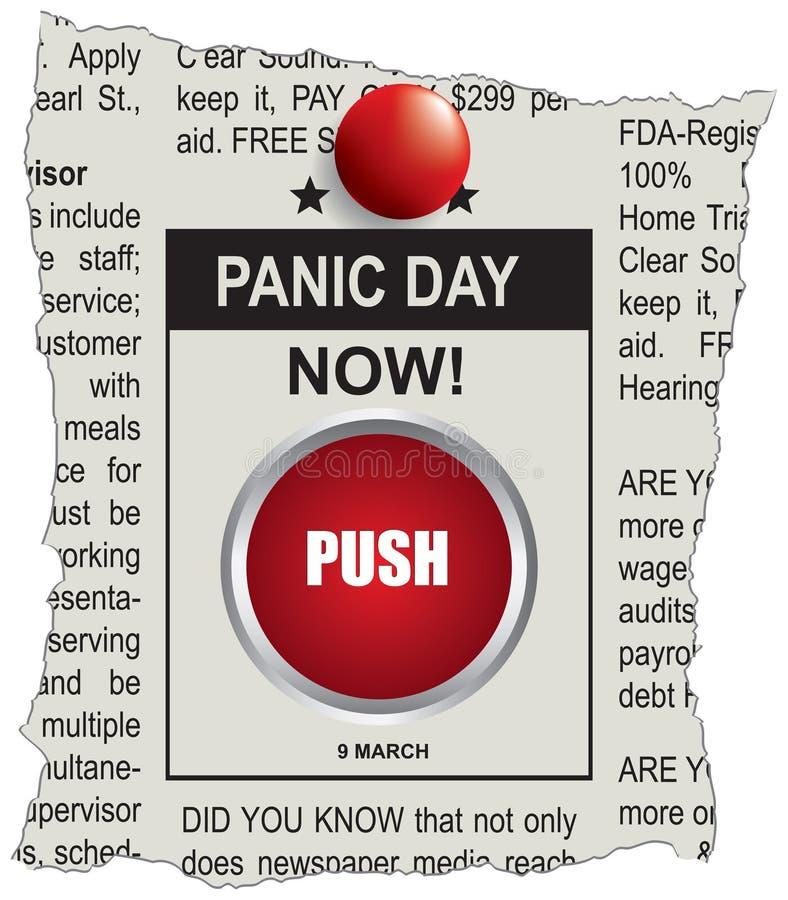 Annonce de jour de panique illustration de vecteur