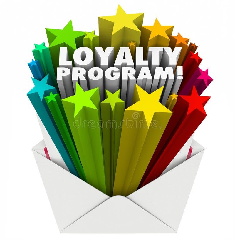 Annonce de la publicité de vente d'invitation d'enveloppe de programme de fidélité illustration stock