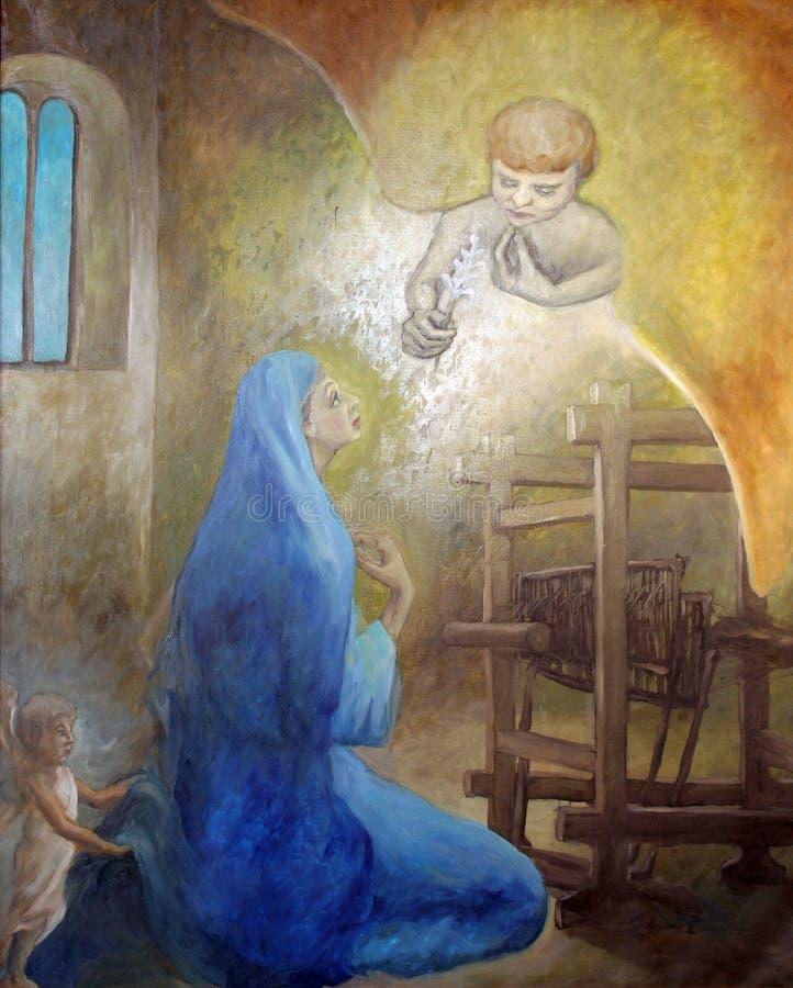 Annonce de la Vierge image libre de droits