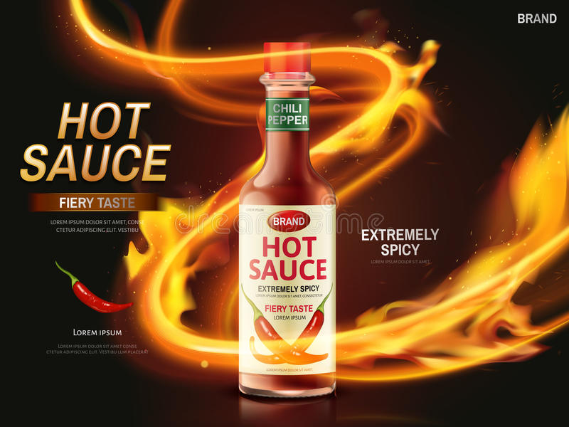 Annonce de sauce chili illustration stock