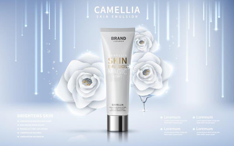 Annonce de toner de peau de camélia illustration stock