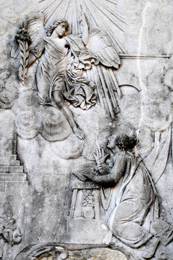 Annonce - Mary sainte et l'ange photos libres de droits