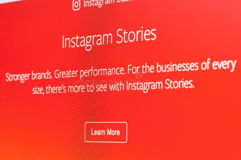 Annonces d'histoires d'Instagram photographie stock