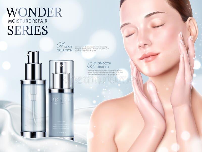 Annonces de cosmétique de soins de la peau