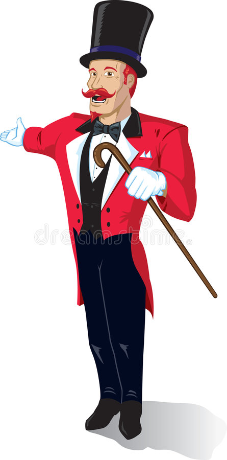 Annonceur de cirque illustration de vecteur