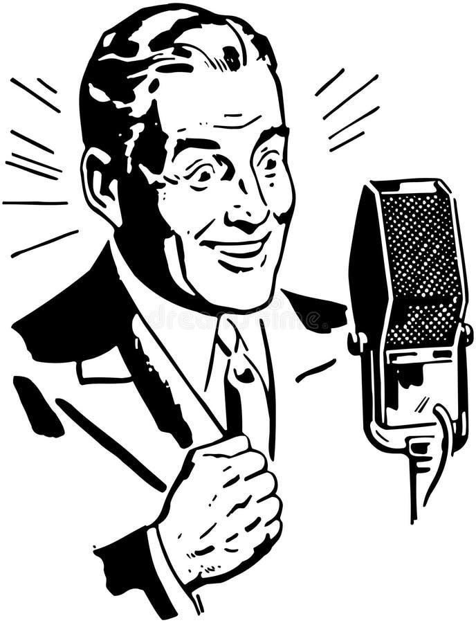 Annonceur par radio 2 illustration libre de droits